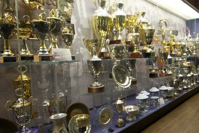 Display of Trophies © Manchester United Football Club