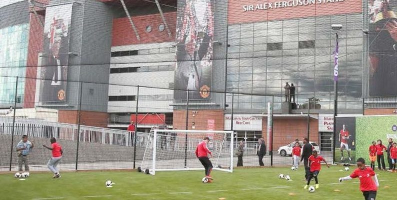 Football Game outside Old Trafford ©Manchester United Football Club